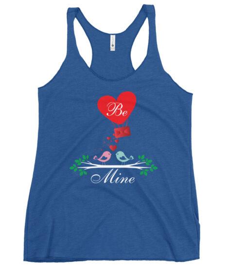 Be Mine Valentines Day Women's Racerback Tank