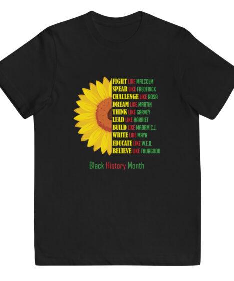 Black History Youth jersey t-shirt