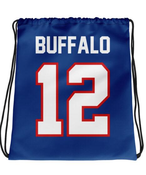 Buffalo Bills #12 Drawstring bag
