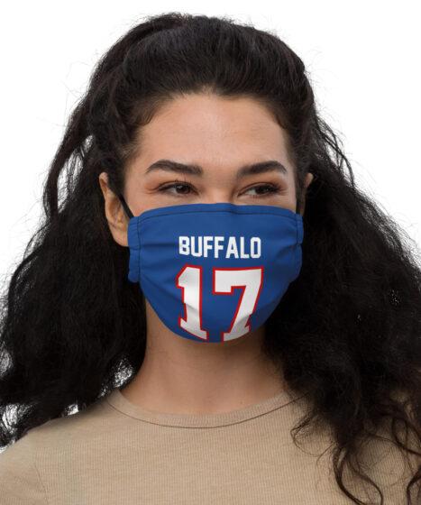 Josh Allen #17 Mask Premium face mask