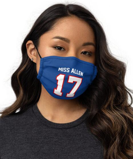 Buffalo Bills Miss Allen #17 Premium face mask