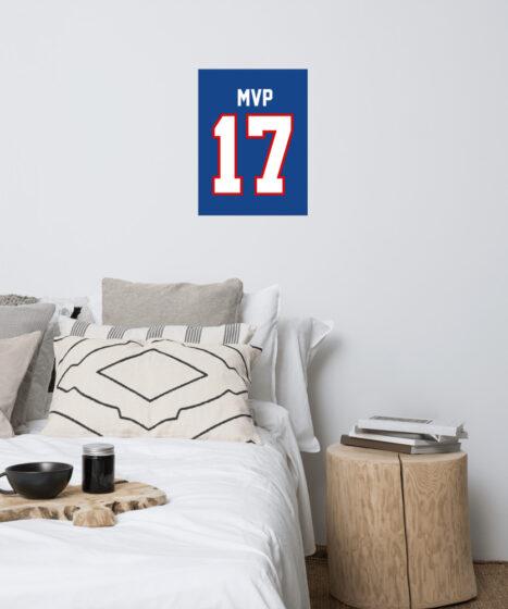 Josh Allen #17 MVP Poster
