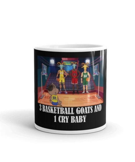 3 Basketball Goats and 1 Cry Baby ( Lebron, Jordan, Bird, Kobe  Mug