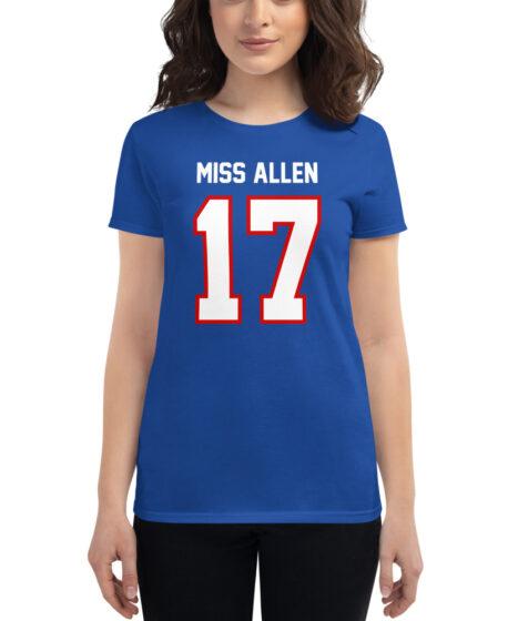 Buffalo Bills #17 Miss Allen Women's short sleeve t-shirt