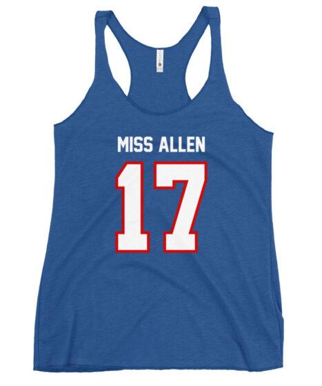 Buffalo Bills #17 Miss Allen Women's Racerback Tank
