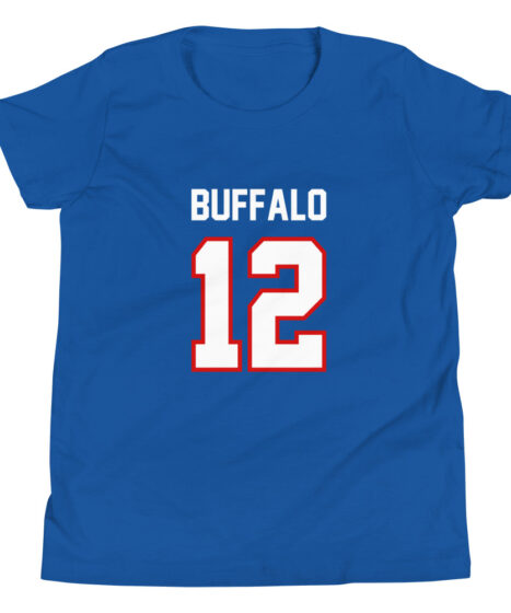 Buffalo Bills #12 MVP Youth Short Sleeve T-Shirt