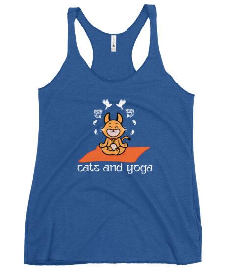 Cats and Yoga Women's Racerback Tank